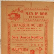 Plakate Stiere - CARTEL TOROS , PLAZA DE TOROS DE VALENCIA 1905, CORRIDA NOCTURNA - 21498256
