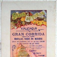Plakate Stiere - CARTEL TOROS , PLAZA DE TOROS DE VALENCIA 1905 , CORRIDA DE NOVILLOS - 21498505