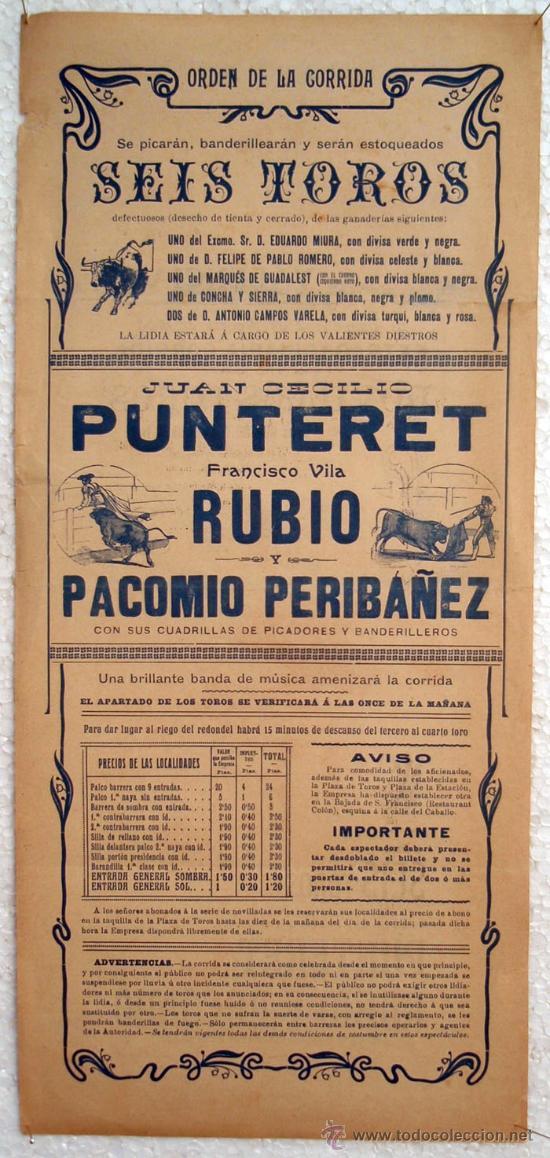 Carteles Toros: CARTEL TOROS , PLAZA DE TOROS DE VALENCIA 1908 , CORRIDA DE NOVILLOS - Foto 2 - 21498474