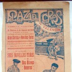 Plakate Stiere - CARTEL TOROS , PLAZA DE TOROS DE VALENCIA , 1916 ,CORRIDA DE NOVILLOS - 21516101