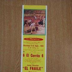 Carteles Toros: CARTEL DE TOROS DE MÉXICO. 1984.. Lote 21537706