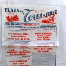 Carteles Toros: CARTEL DE TOROS. PLAZA DE TOROS DE JEREZ, CADIZ. 5 CORRIDAS DE TOROS, FERIA DEL CABALLO, MAYO 1988.. Lote 21873301
