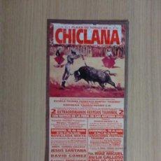Carteles Toros: CARTEL DE TOROS. CHICLANA, CADIZ. FERIA DE SAN ANTONIO 2002. 2 FESTEJOS TAURINOS.. Lote 22025389