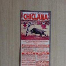 Carteles Toros: CARTEL DE TOROS. CHICLANA, CADIZ. FERIA DE SAN ANTONIO 2002. 2 FESTEJOS TAURINOS.. Lote 22027574