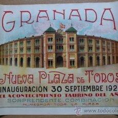 Carteles Toros: CARTEL DE TOROS DE LA INAUGURACIÓN DE LA NUEVA PLAZA DE TOROS DE GRANADA. 30 SEPTIEMBRE 1928.. Lote 53739961