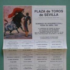 Carteles Toros: CARTEL DE TOROS. SEVILLA. FERIA DE ABRIL 1983. ALTERNATIVA DE CURRO DURAN.. Lote 22161025