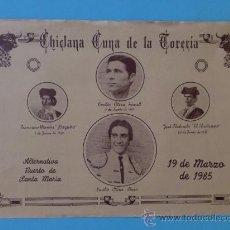 Carteles Toros: CARTEL DE TOROS. CHICLANA, CADIZ. CHICLANA CUNA DE LA TORERIA.. Lote 22162033