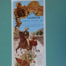 Carteles Toros: CARTEL DE TOROS. VALENCIA. CORRIDAS FALLERAS, MARZO 1982. ALTERNATIVA DE VICENTE RUIZ EL SORO.. Lote 22352237
