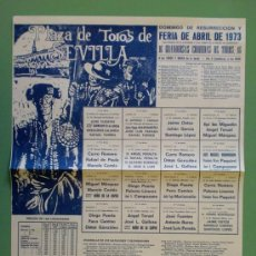 Carteles Toros: CARTEL DE TOROS. SEVILLA. FERIA DE ABRIL 1973. ALTERNATIVA DE JOSE A. CAMPUZANO.. Lote 22390025
