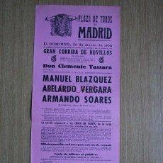 Carteles Toros: CARTEL DE TOROS DE MADRID. 1958.. Lote 22370283