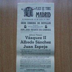 Carteles Toros: CARTEL DE TOROS DE MADRID. 1961.. Lote 22401162