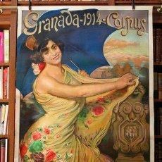 Carteles Toros: CARTEL DE TOROS DE GRANADA. MURAL. 1914.GALLO, LAGARTIJILLO CHICO, GALLITO, POSADA Y BELMONTE. . Lote 27312200