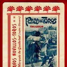 Carteles Toros: CARTEL TOROS, VALENCIA 1908, ORIGINAL, VER FOTOS ADICIONALES. Lote 23108438