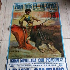 Carteles Toros: CARTEL DE TOROS DE EL ÁLAMO. 1984.. Lote 23593413