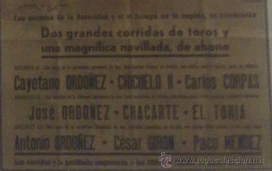 Carteles Toros: CARTEL ÚNICO!!! SANTANDER TOROS VERANO 1954. - Foto 2 - 23261217