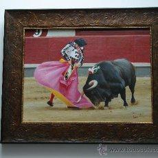 Carteles Toros: OLEO TAURINO. MORANTE DE LA PUEBLA. OLEO TOROS. PINTURA TAURINA. Lote 26968091