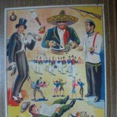 Carteles Toros: CARTEL DE TOROS - ALCOY, ALICANTE - 6 DE JULIO 1947. Lote 24615006