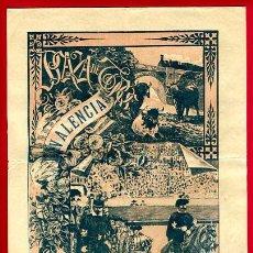 Carteles Toros: CARTEL TOROS, PLAZA TOROS VALENCIA , 1912 D. PEREA , ORIGINAL ,C. Lote 24717260