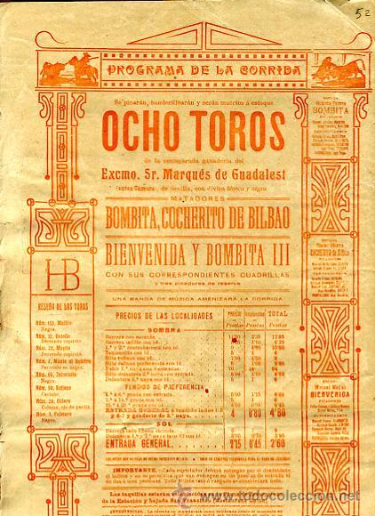 Carteles Toros: CARTEL TOROS, PLAZA TOROS VALENCIA , FERIA 1909 , ORIGINAL ,C - Foto 3 - 24718008
