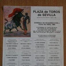 Carteles Toros: CARTEL DE TOROS DE SEVILLA. 1983. FERIA DE ABRIL.. Lote 25763581