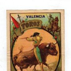 Carteles Toros: CARTEL DICTICO FERIA DE VALENCIA 1931 MD.21X14CM. RUANO LLOPIS LIT. ORTEGA. Lote 25302153