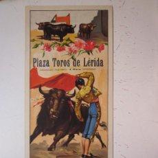 Carteles Toros: CARTEL DE TOROS - LERIDA - 13 MAYO DE 1950 - LITOGRAFIA. Lote 270552898
