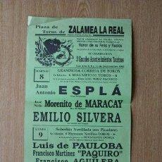 Carteles Toros: CARTEL DE TOROS DE ZALAMEA LA REAL. 1991.. Lote 26562148