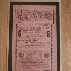 Carteles Toros: CARTEL DE TOROS DE MÉXICO. 1905. . Lote 26658257