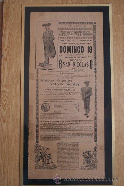 CARTEL DE TOROS DE MÉXICO. 1905. (Coleccionismo - Carteles Gran Formato - Carteles Toros)