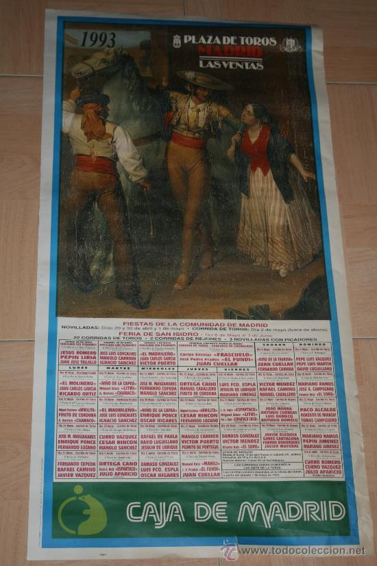 CARTEL PLAZA DE TOROS DE MADRID LAS VENTAS 1993 (Coleccionismo - Carteles Gran Formato - Carteles Toros)