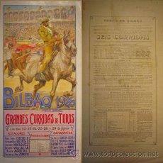 Carteles Toros: PLAZA DE TOROS DE BILBAO 1926 [ROBERTO DOMINGO (ILUSTRADOR)]. Lote 27241646