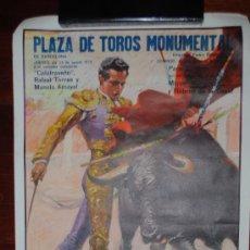 Carteles Toros: CARTEL CORRIDA DE TOROS EN LA MONUMENTAL DE BARCELONA. 23 DE AGOSTO DE 1973. 95X55CM. . Lote 27817387
