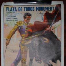 Carteles Toros: CARTEL CORRIDA DE TOROS EN LA MONUMENTAL DE BARCELONA. 23 DE AGOSTO DE 1973. 95X55CM. . Lote 27823172