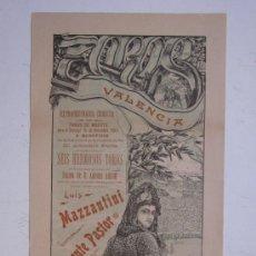 Carteles Toros: CARTEL TOROS - VALENCIA - NOVIEMBRE DE 1903. Lote 28307264