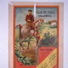 Carteles Toros: CARTEL TOROS - VALENCIA - AGOSTO DE 1903 - LITOGRAFIA. Lote 28328426