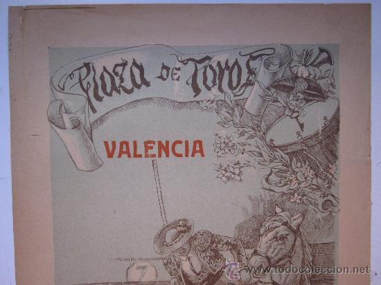 Carteles Toros: CARTEL TOROS - VALENCIA - JUNIO DE 1905 - Foto 2 - 28327735