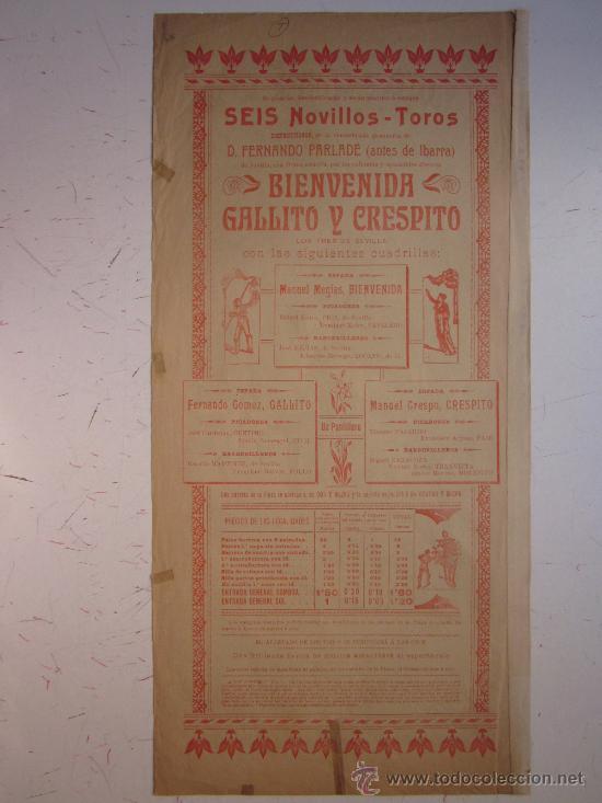 Carteles Toros: CARTEL TOROS - VALENCIA - JUNIO DE 1905 - Foto 5 - 28327735