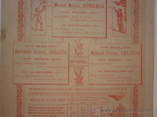 Carteles Toros: CARTEL TOROS - VALENCIA - JUNIO DE 1905 - Foto 7 - 28327735
