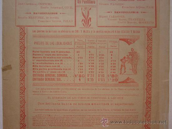 Carteles Toros: CARTEL TOROS - VALENCIA - JUNIO DE 1905 - Foto 8 - 28327735