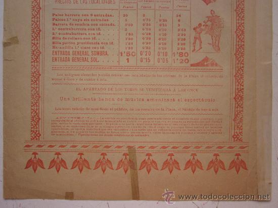 Carteles Toros: CARTEL TOROS - VALENCIA - JUNIO DE 1905 - Foto 9 - 28327735