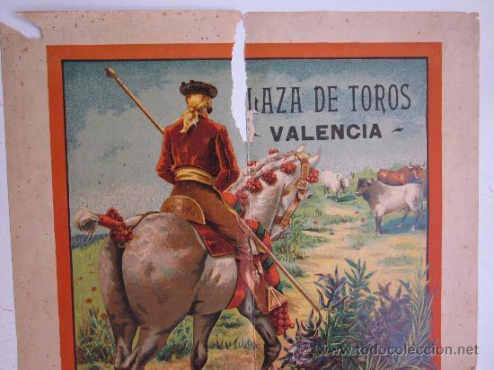 Carteles Toros: CARTEL TOROS - VALENCIA - AGOSTO DE 1903 - LITOGRAFIA - Foto 2 - 28328426