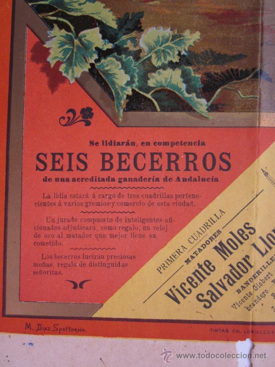 Carteles Toros: CARTEL TOROS - VALENCIA - AGOSTO DE 1903 - LITOGRAFIA - Foto 6 - 28328426