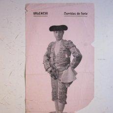 Carteles Toros: CARTEL TOROS - VALENCIA - JULIO DE 1910 - RAFAEL GOMEZ GALLO. Lote 28337843