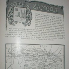 Carteles Toros: ZAMORA REPORTAJE SOBRE LA CIUDAD Y PROVINCIA 1920 . Lote 28651638