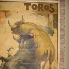 Carteles Toros: TRES TOROS EN PELEA.003. Lote 29239059
