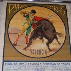 Carteles Toros: PRECIOSO CARTEL TOROS VALENCIA 1927 RUANO LLOPIS. Lote 101968478
