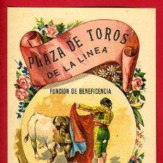 Carteles Toros: CARTEL TOROS PLAZA DE LA LINEA DE LA CONCEPCION 1907 , CADIZ ,MODERNISTA ,CROMO LITOGRAFIA ,ORIGINAL. Lote 29389441