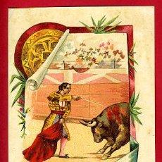 Carteles Toros: CARTEL TOROS PLAZA DE ALGEMESI , 1908 , VALENCIA ,MODERNISTA ,CROMO LITOGRAFIA ,ORIGINAL. Lote 29389623