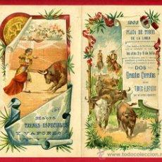 Carteles Toros: CARTEL TOROS PLAZA LA LINEA DE LA CONCEPCION , 1905 ,CADIZ ,MODERNISTA ,CROMO LITOGRAFIA ,ORIGINAL. Lote 29390003