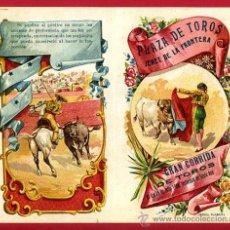 Carteles Toros: CARTEL TOROS PLAZA JEREZ DE LA FRONTERA , 1908 ,CADIZ ,MODERNISTA ,CROMO LITOGRAFIA ,ORIGINAL. Lote 29390035